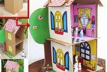 Reciclar cartón en juguetes / Juguetes realizados a partir del reciclado de cartones