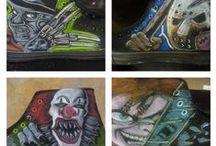 Shoe Art / Art done on shoes