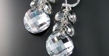 Crystal Jewelry / Stunning necklaces, pendants, bracelets and earrings made with sparkling crystals.