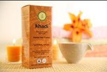 Farby do włosów Helfy / Doskonałe farby do włosów firmy Khadi z henny i indygo.