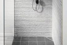 Small wet room ideas / Inspirational small wet room ideas, perfect if you are struggling for wet room design ideas - Created to share inspirational wet room / walk in shower design ideas - Wet Room Materials with Unidrain specialise in Scandinavian wet rooms systems.