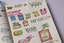 Inspiration - Bullet Journals! / Great Ideas for Pages to Create in My Bullet Journal!