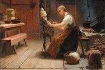 Fibre Art Illustrations / Illustrations depicting the art of fibre working.