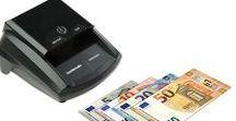 Detectores billetes falsos. Counterfeit detectors for Euro, USD, GBP,.. / Detectores de billetes falsos para euro, libra esterlina, dólar americano entre otras muchas divisas y monedas del mundo. Multicurrency Counterfeit detectors for euro notes, USD, GPB, CHF, DKK, ...