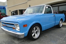 1968 Chevy Truck Custom /  Here is one gorgeous truck. This 68 is a ground up restoration with a unbelievable body, astounding paint and undercarriage but that's not it shes been built to run. The small block 350 has a estimated 425+ HP hooked to a 350 Automatic tranny with a manual valve body she will scream.