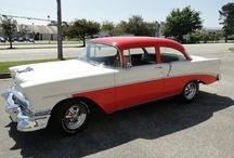 1956 Chevy 210 / This 56 is a mint car it is original with a 265 small block v8 and a powerglide tranny. The Paint is excellent as well as the interior and undercarriage. This car runs great and steers wonderful. All her body lines and panels appear straight and in great shape.