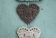 Inspiration Crochet / Des Ronds & Carrés & Cœurs....