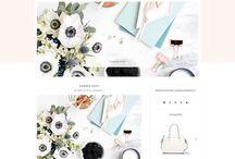 Web Design and Blog Design Goodies / Awesome Web Design Ideas, Blog Design, Lovely Website Ideas, Female Web Design Inspiration