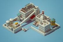 Isometric Illustration / A series of isometric illustrations for reference