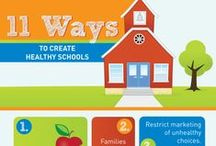 School Wellness infographics / what can schools do to promote healthier choices for children?