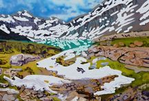 Lake front / Paintings inspired by the beauty and essence of Lake O'Hara one of the most magical places found in the Canadian Rocky Mountains.