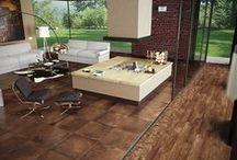 Rondine - Amarcord / Série Amarcord umožňuje spojit dva odlišné povrchy cotto a dřevo v jednom bytě.