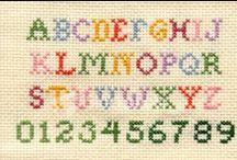 punto croce alfabeto