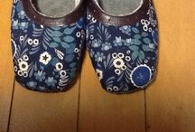 Room shoes / 木型から作るルームシューズ
