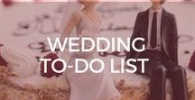 Wedding To-Do List (Pre & Post) / A collection of pre-wedding tips and post-wedding tips. What a couple needs to do before the wedding and after the wedding.