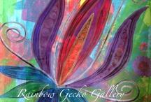 Rainbow Gecko Gallery Prints