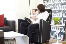 Luca Glider / The Original Modern Glider chair is an essential piece of nursery furniture that will also fit seamlessly into any room of the home once baby is grown.