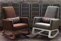 Joya Rocker / A modern rocking chair ergonomically designed for the nursing.