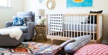 Boy's Room Ideas / Looking for inspiration for your baby boy on the way? Or redesigning from nursery to kids room? We've rounded up some of the top photos featuring our modern rockers, gliders and beds to help inspire!