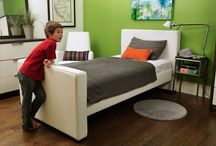 """Upholstered Twin Beds for Kids / The Monte Design Dorma Twin Bed has a fully upholstered frame making it ideal for your child's first """"real"""" bed or for your teen's modern aesthetic."""
