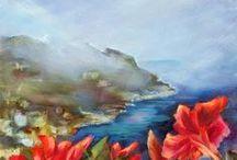 Flower Paintings / Floral paintings in Oil and Watercolor