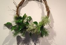 Wreath bombing - by Earth Kraike / Earth Kraiking a new hobby of mine where I make wreaths and randomly adorn the walks I take with my dogs !!!