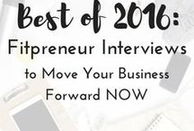 Fitpreneur Interviews / These interviews are my favorite because I get to learn from those doing great things in the fitness business world, share the awesomeness with you all, and showcase fellow fitpreneurs.