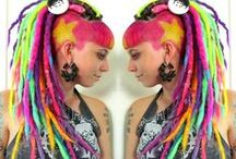 Synthetic Dreads by Black Sunshine / All dreads made by Black Sunshine Www.blacksunshineiow.com