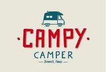 Campy Camper / Inspiré des vans aménagés Volkswagen des 70's, Campy Camper vous donne la possibilité de voyager sur les traces des légendaires road trips américains et californiens.  Adoptez le Campy, compromis idéal entre logement de vacances et location de voiture, et découvrez les richesses du Sud Ouest de la France, de l'Espagne et du Pays Basque...