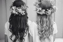 Garden Fairies / Midsummer Night's Dream party inspiration. Festivals, flowers in your hair, boho-sheek, bohemian