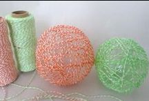 Bakers Twine /  Wrap up baked goods with classic bakery charm.Made of 4 cotton strands twisted together,14 colors to choose from at  http://www.paperlanternstore.com/