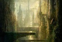 Ruines / Images de ruines glanées ici et là, pour servir à la construction de mon monde imaginaire de la Nouvelle Source