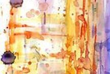 Abstract watercolors / Various abstract watercolor paints