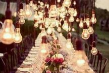 Vintage Wedding / Vintage wedding inspirations! from lights to table top decorations <3