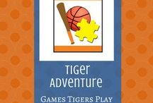Games Tigers Play:  Tiger Adventure | Cub Scouts / Resources for the Tiger adventure, Games Tigers Play.