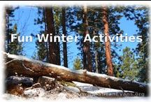Winter Activities for Kids / Fun winter activities for kids.  #winter-activities-for-kids #winter-activities-for-children