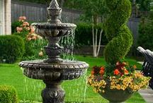 Backyard Fountains / Water fountains are a great way to add flavor to your backyard.