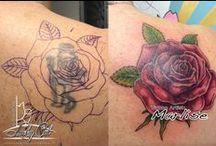 Recover / upgrade / Diverse tatoeages welke zijn ge-gecoverd of zijn ge-upgrade door tatoeagestudio Lucky Cat Tattoo | 's-Hertogenbosch