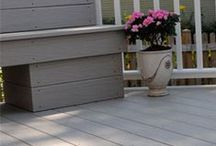 Gossen Trailways SV Decking / Our Trailways Special Variegated has its own classic color selection with remarkable contrasting wood grain accent. The Earthtone core is made with recycled PVC, creating natural core variances similar to a composite...but it's all PVC. With no organic fillers, you don't have to worry about mold, mildew or any other moisture damage. Boards will not swell, crack, warp or splinter.