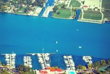 Detroit River / Photos of #DetroitRiver and views around/above the #DetroitGoldCup #hydroplane race course.  / by Detroit Gold Cup