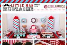 Mustache / Mustache themed birthday party ideas and cakes.