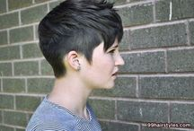 Hair inspiration - short / Looking for the perfect angled asymmetrical short crop hairstyle...