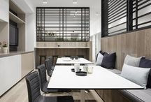 Interiors | Commercial Office / A selection of commercial office and workspace details and spatial arrangements.