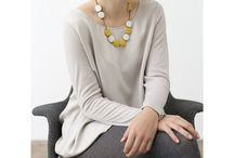 Minimalist wardrobe / 1. Merino wool where possible.  2. Stick to a neutral palette. 3. Chunky necklaces to dress up the outfit.