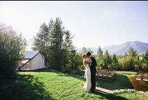 Glacier Park Weddings / Real weddings at our full-service outdoor wedding venue in the mountains of Montana!  www.glacierparkweddings.com