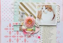 things that shine -- layouts by me :) / Scrapbook layouts by Ashley Calder.