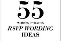 RSVP Card Wording Inspiration / Ideas for RSVP and response cards, RSVP wording, RSVP layouts, and more.