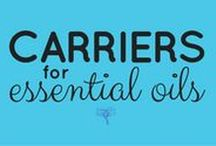 Carriers for Essential Oils / If you've been learning about the advantages of properly diluting essential oils, and now you want to know what to dilute them in, these pins are for you!  Choosing a carrier to use with essential oils is more than a matter of personal preference. The carrier you use not only affects the absorption rate, but can also enhance therapeutic properties of the essential oil(s) you are adding to the carrier.  Read more ---> UsingEOsSafely.com/carriers