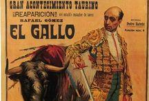Carteles históricos de toros / Uno de los tableros con verdaderas joyas del arte taurino: los carteles y estos ¡no todos están en ZiNGS! #nosoloenzings