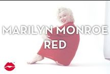 Marilyn Monroe Red / When we think of Marilyn we think sassy, gorgeous, and the color red as her signature. We love all things beautiful in this hue, and know that Marilyn would approve!